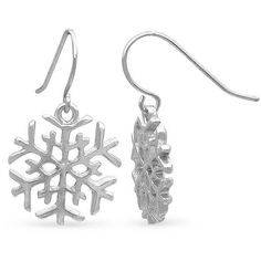 Kim Rogers Silver Silver-Tone Snowflake Drop Earrings (385 RUB) ❤ liked on Polyvore featuring jewelry, earrings, silver, polish jewelry, snowflake jewelry, silver snowflake earrings, silver tone jewelry and evening earrings
