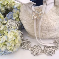 Can't believe it's almost here! Here's a #sneakpeek of the #handbag I designed for my #weddingday! I took lace from my Mom's #weddingdress for my #somethingold and paired it with periwinkle lining for my #somethingblue!   #gointothechapel #walthookedkels #wynneinlove #july52014 #daretobefabulous xo