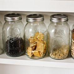 Use Mason Jars for snacks and ingredients