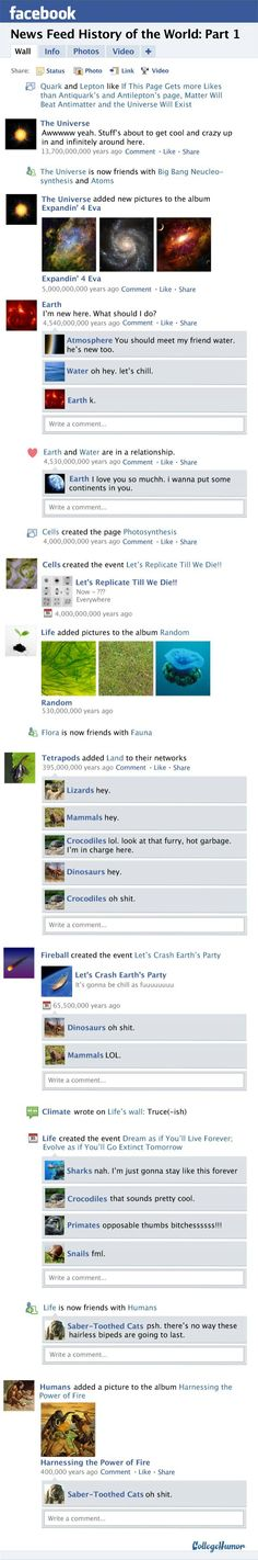 History of the world through #Facebook