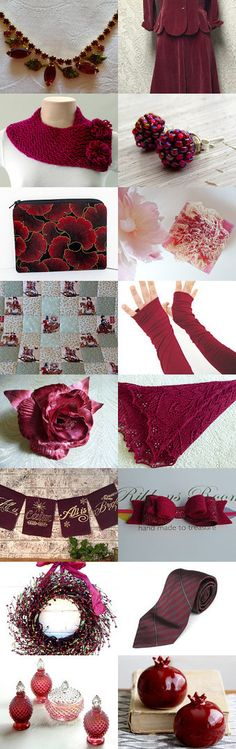 Winter Berry Gifts - Vintage and Home Decor by Marilyn on Etsy--Pinned with TreasuryPin.com