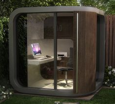Garden office - two minute commute and a place to put all your work!