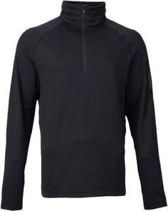 Burton Men's AK Grid Half-Zip Tech Fleece Long Underwear Top True Black XXL