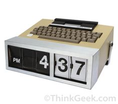 """For those of you who miss """"Lost,"""" Dharma Initiative Alarm Clock---4 8 15 16 23...46? Oh $#%@!!!---if you don't get the numbers right before you see the hieroglyphs, there's no guaranteeing what will happen. Check it out at www.thinkgeek.com"""