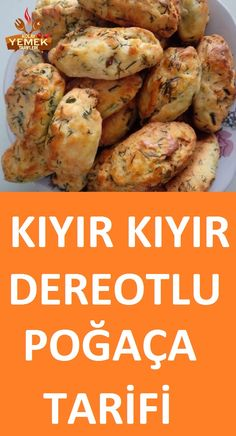 Dereotlu Poğaça Tarifi The easiest dill donut recipe with a scent in the mouth Pasta Cake, Turkish Tea, Tea Time Snacks, Breakfast Items, Donut Recipes, Homemade Beauty Products, Food Illustrations, Donuts, Slow Cooker