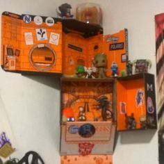 Not just Lootcrate boxes, but and. Shoeboxes also, as decoration and shelving.