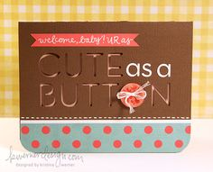 Adorable new baby card