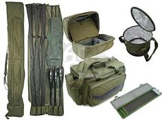 Ngt carp #fishing luggage deal set  3+3 rod #holdall #carryall rig wallet bait bi,  View more on the LINK: http://www.zeppy.io/product/gb/2/281868166992/