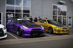 Nissan R35 GT-R and Nissan Skyline R34 GT-R