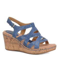 Look at this Lake Blue Chyna Leather Wedge on #zulily today!
