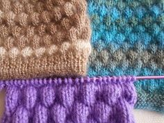 Punto puff / punto fantasia fácil y rápido en dos agujas - YouTube Baby Knitting Patterns, Knitting Stitches, Stitch Patterns, Baby Stitch, Crochet For Kids, Knit Crochet, Herringbone Stitch, Red Cat, Knitting Videos