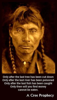 A Cree Native American photographed by Edward S. Curtis.