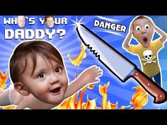 BABY IN DANGER ? Who's Your Daddy Skit + Gameplay w/ Shawn vs Knife, Fire, Glass & More (FGTEEV Fun) - YouTube