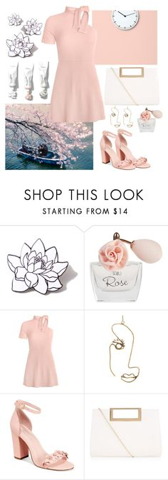 """""""Total pink"""" by elisacipolla ❤ liked on Polyvore featuring PINTRILL, Dana, Rosie Assoulin, Avec Les Filles and New Look"""