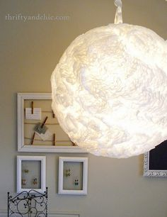 this is cool....coffee filter hanging light