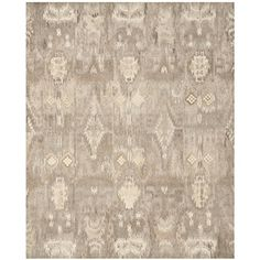 Safavieh Wyndham Collection WYD723A Handmade Natural and Multi Wool Area Rug, 8 feet by 10 feet (8' x 10')