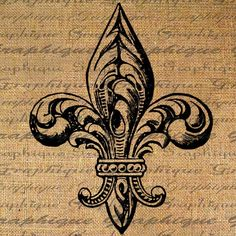 lis arpillera Fleur de Lis Ornate Design French Digital Image Download Sheet Transfer To Pillows Tote Tea Towels Burlap No. 2043