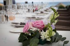 Detail from the bridal table at Cafe del mar Marbella.Wedding photography by Kris Mc Guirk.Destination weddings with style. Bridal Table, Destination Weddings, Beach Club, Wedding Photography, Table Decorations, Detail, Style, Del Mar, Swag