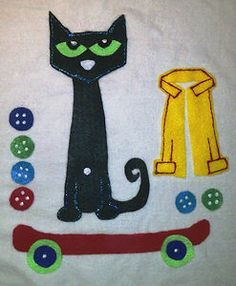 Pete The Cat/Groovy Buttons Flannel Board.