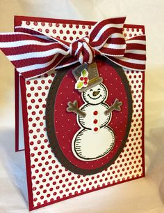 Stampin Up! Snow Place stamp set. Christmas card. Handmade. Visit my blog. www.stampinwithkjoyink.typepad.com