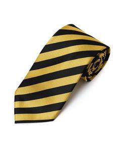 "Yellow & Black School College Tie Woven Stripe Tie , 63"" X 3 1/2"" X-Long boxed-gifts,http://www.amazon.com/dp/B001TXJQBQ/ref=cm_sw_r_pi_dp_WHBjrb04K2XR9Y6P"