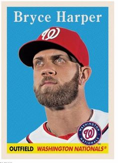 2016 Topps NOW TBT Week # 2 Card # 9 Bryce Harper Throwback Thursday 6/16/16 #WashingtonNationals
