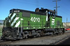 Burlington Northern Railroad, Alco diesel-electric locomotive in Klamath Falls, Oregon, USA Diesel Locomotive, Electric Locomotive, Klamath Falls, Bnsf Railway, Rail Transport, Burlington Northern, Rail Car, Train Pictures, Electric Train