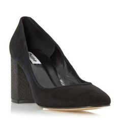 DUNE LADIES ABELL - Block Heeled Round Toe Court Shoe - black | Dune Shoes Online