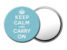 M075 Magoo Keep Calm and Carry On Vintage Blue TRAVEL MIRROR with Luxury Gift Pouch.: Amazon.co.uk: Beauty