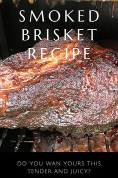 How To Smoke A Brisket in Your Electric Smoker - Want to smoke a perfect juicy & tender brisket? How To Cook Brisket, Beef Brisket Recipes, Bbq Brisket, Smoked Beef Brisket, Traeger Recipes, Smoked Meat Recipes, Bbq Beef, Brisket Recipe Smoker, Best Smoked Brisket Recipe