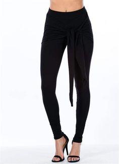 New Tie Knot Black Leggings Size Small  Unbranded Black Leggings 1f8ea8efffb