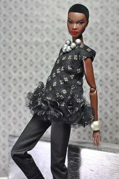 fashion royalty fr2   dollsalive Cumulus Nimbus  OOAK outfit, shoes ,bag
