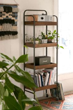 Harrison Bookshelf | Urban Outfitters [by front door, add s-hooks to side to hang keys/stuff from sides]