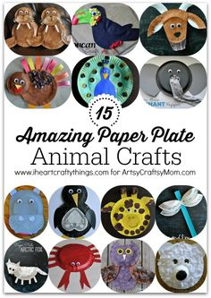 15 Amazing Paper Plate Animal Crafts – You'll find everything from cute zoo animals, ocean creatures, animals from the arctic, beautiful birds and more. .. Use them as puppets with books or masks for unlimited pretend play.