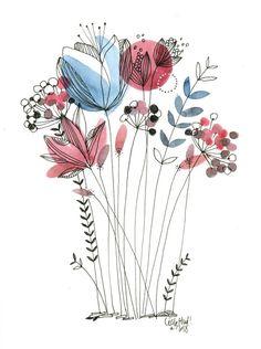 Картинки рисунки в 2019 г. acuarela sencilla, acuarela и dibujos de flores. Watercolor Art, Watercolor Water, Art Painting, Art Drawings, Drawings, Doodle Art, Flower Art, Watercolor Flowers, Abstract
