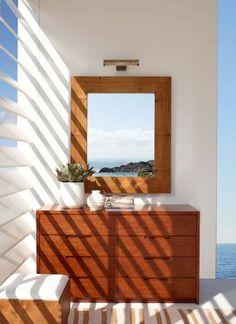 Armoire Desert Modern Ralph Lauren et miroir en bambou
