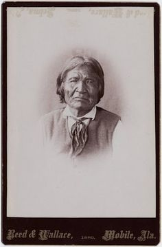 Kas-tziden, more widely known by his Mexican appellation Nana, c.1800-1896 - Chiricahua Apache - 1889 - By Reed & Wallace.