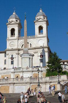 Trinità dei Monti, at the top of the Spanish Steps, Rome.
