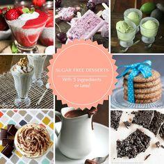 25 Sugar Free Desserts with 5 ingredients Sugar Free Deserts, Sugar Free Treats, Sugar Free Recipes, Low Carb Recipes, Ww Recipes, Diabetic Recipes, Dessert Recipes, Healthy Recipes, Banting Desserts