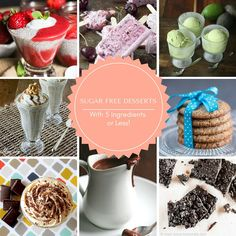 25 Sugar Free Desserts with 5 ingredients Banting Desserts, Low Fat Desserts, Low Carb Sweets, Sugar Free Deserts, Sugar Free Treats, Sugar Free Recipes, Best Low Carb Recipes, Ww Recipes, Light Recipes