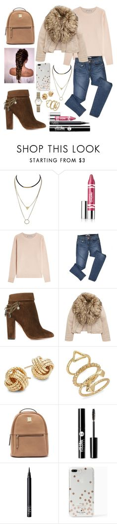 """""""Winter is coming"""" by lina18neko ❤ liked on Polyvore featuring Clinique, Vince, J Brand, Aquazzura, Saks Fifth Avenue, ABS by Allen Schwartz, Charlotte Russe, NARS Cosmetics and Kate Spade"""