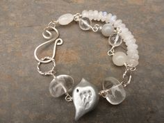 Silver and Moonstone 'Birdie' bracelet by BewitchedHandcrafted, £26.00