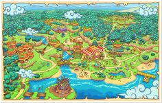 pokemon-global-academy:  Pokemon Super Mystery Dungeon Map Artwork