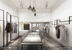 Clothes shop interior boutiques hangers 20 ideas for 2019 Fashion Shop Interior, Clothing Store Interior, Fashion Showroom, Shop Interior Design, Retail Design, Store Design, Boutique Design, Boutique Interior, Simple Kitchen Design