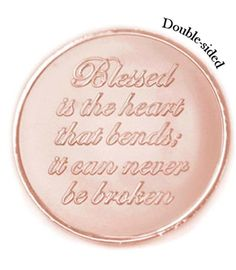 Mi Moneda Large Rose Gold Plated Blessed / Believe Coin from Michael Jones Jeweller All That Glitters, Rose Gold Plates, Coins, Blessed, Jewels, Jewellery, Ideas, Coining, Jewelery