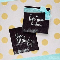 FREE Mother's Day Chalkboard Tags + Cute Gift Idea! #chalkboard #chalkart #free #mothersday