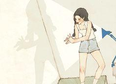 韓國살구 salgoolulu動態圖 Animated Gif Illustrator by 살구 salgoolulu Aesthetic Drawing, Aesthetic Art, Aesthetic Anime, Korean Aesthetic, Gifs, Japon Illustration, Korean Illustration, Korean Painting, Animation