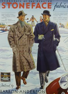 ... Apparel Arts in 1934. Enjoy! It shows two gentlemen in heavy topcoats made of stoneface fabrics. On the left you see a nice Ulster overcoat and on the ...