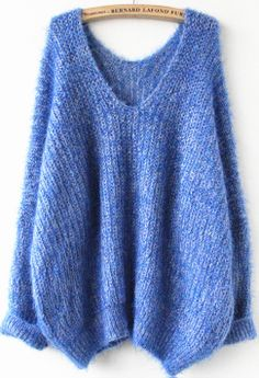 Royal Blue Oversize Mohair Sweater