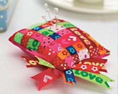 Woven Ribbon Pin Cushion
